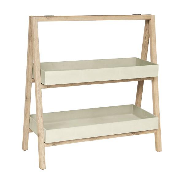 Etagère Freesia grand modèle naturel en bois et grès SANDSTONE
