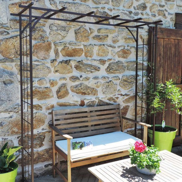 Arche de jardin en fer grand modèle + 4 supports à enfoncer - Louis Moulin