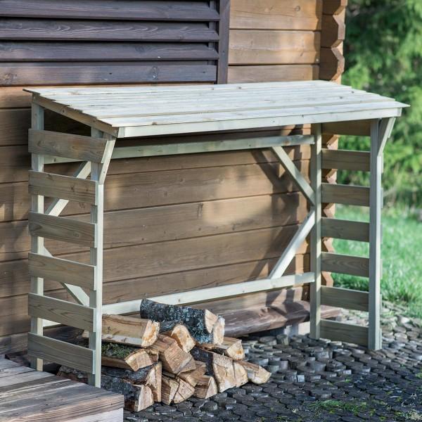 Abri bûches en bois Morzine - 0,7 stère