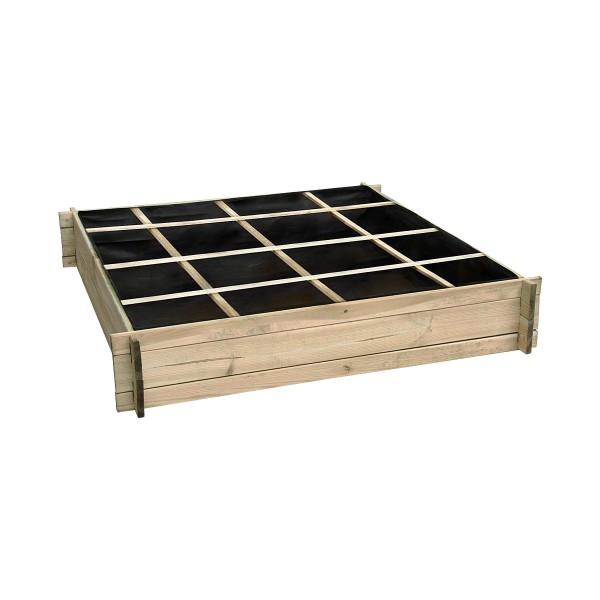 Carré potager divisé en bois grand modèle