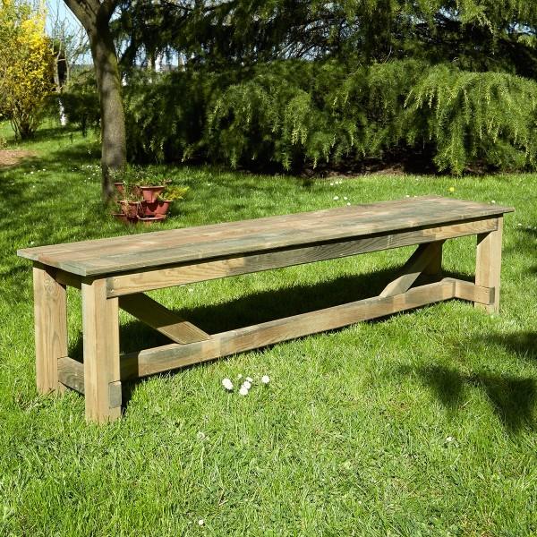 Banc de jardin 4 places en bois Normand