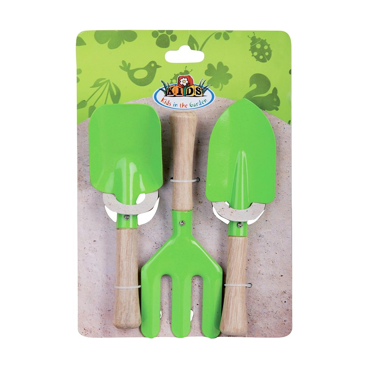 Set 3 accessoires de jardinage vert - esschert design