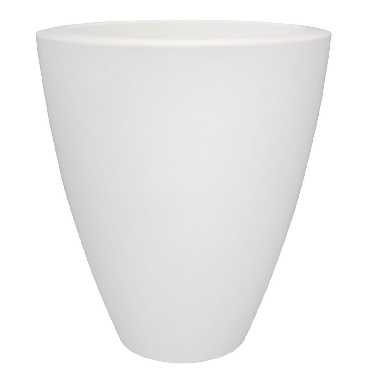 Pot de fleurs Pure High Ovale Blanc Ø 70