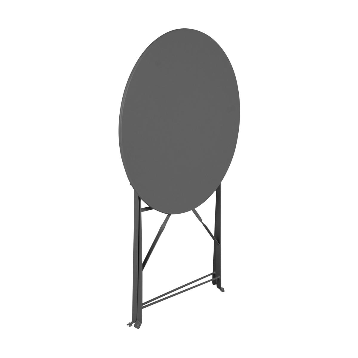 Table pliable an acier Mistral Anthracite D60