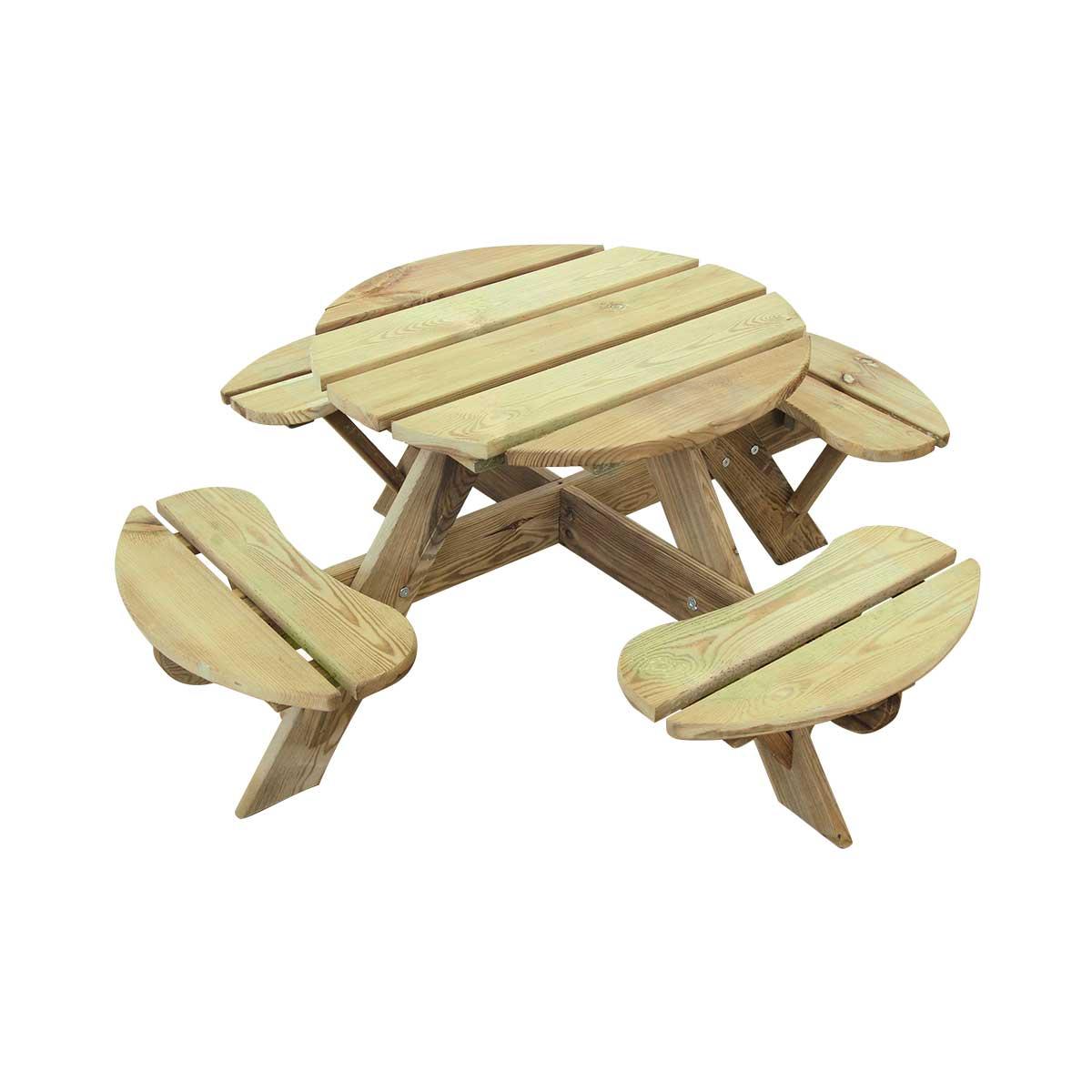 Table Pique-Nique ronde pour enfant